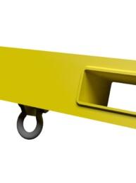 Slide on forklift hook