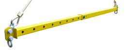 Simple isometric spreader bar beam